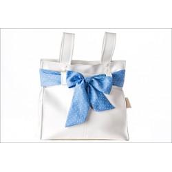 Panera polipiel blanca/fátima azul