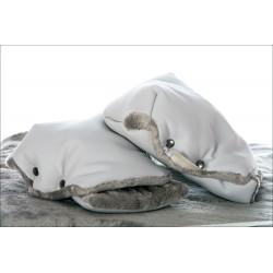Manoplas polipiel gris