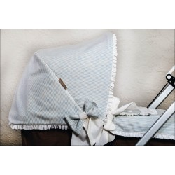 Capota lana raya celeste