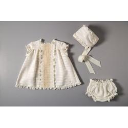 Conjunto vestido, braguita y capota 33000 Cocote