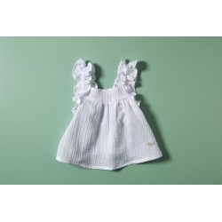 Vestido blanco J. Varones 34109