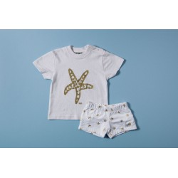 Conjunto camiseta y bañador niño J. Varones 34247