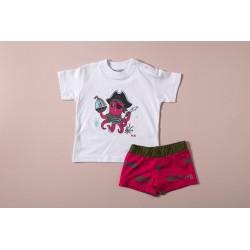 Conjunto camiseta y bañador niño J. Varones 34253