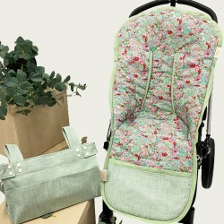 Colchoneta flores-Varadero verde