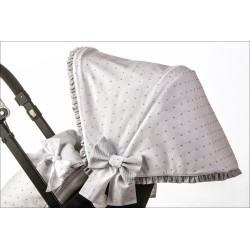 Capota silla muselina blanca