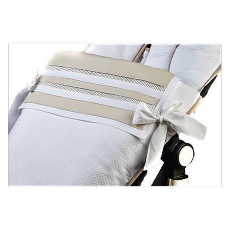 Silla piqué blanco/vainicas