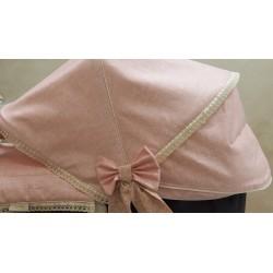 Capota lino encerado rosa EXTENSIBLE