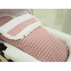 Capazo estrella algodón rosado